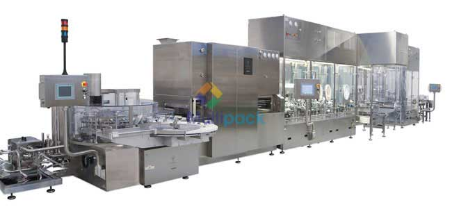 Automatic Liquid Vial Filling with Rubber Stoppering Machine