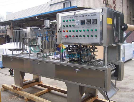 Rotary Cup Filling And Sealing Machine For Dual Cups