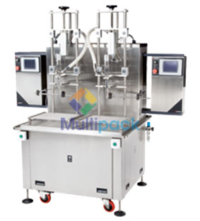 Net weight mass meter based liquid fillers