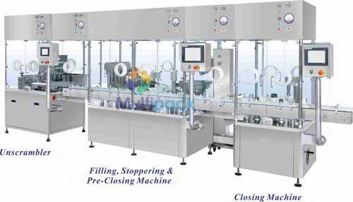 Liquid Injection Vial Filling Line
