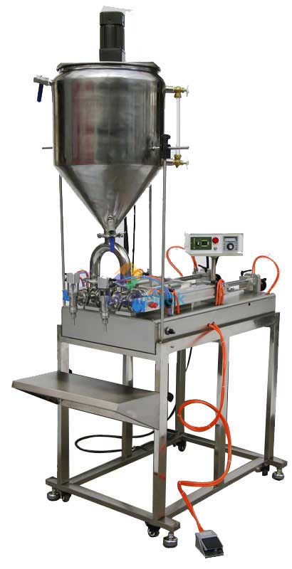 Pneumatic Viscous Cream Paste Filling Machine