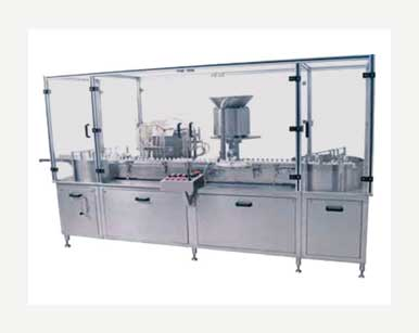 Vial Filling And Cap Sealing Machine